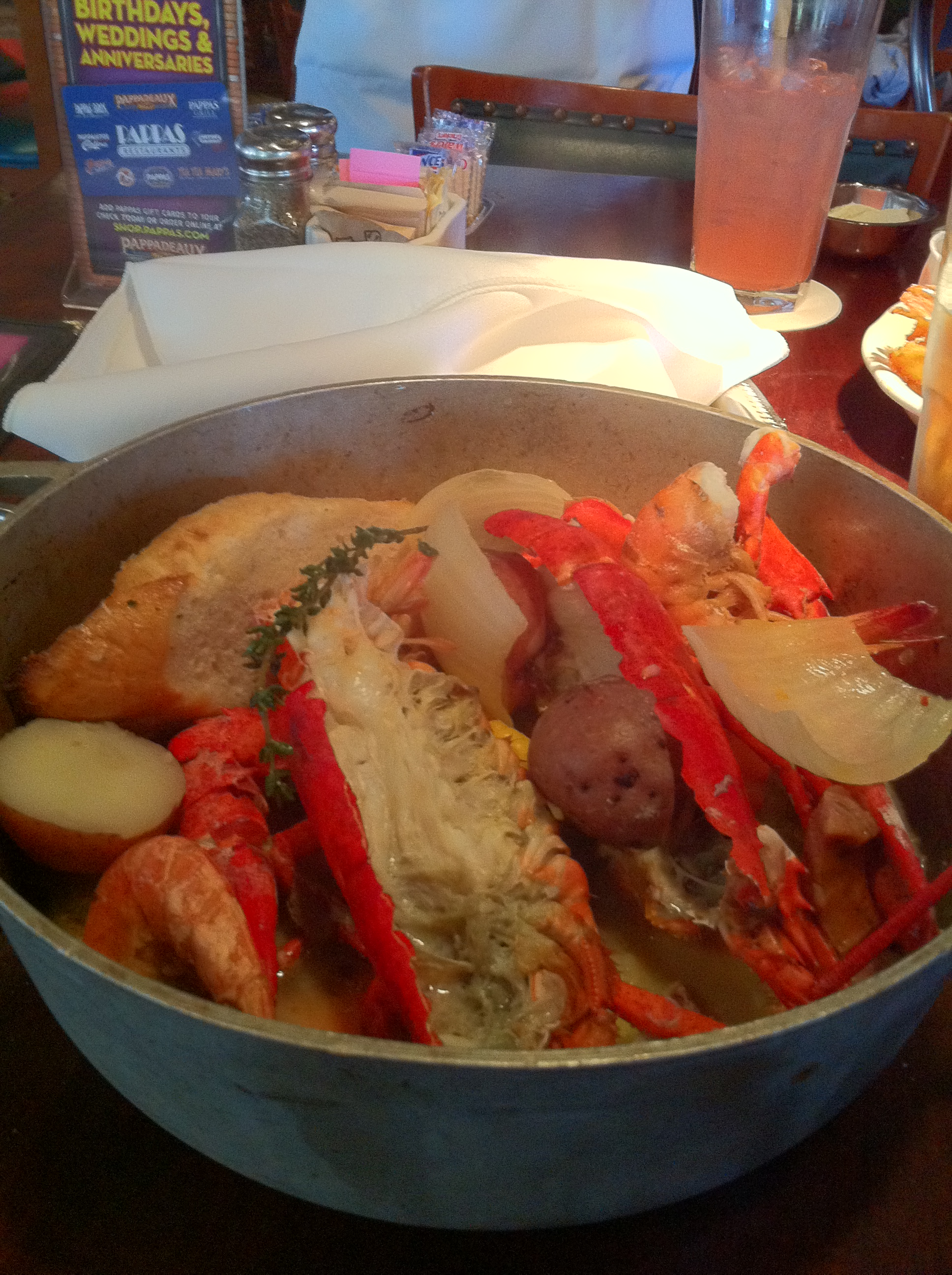 picture about Pappadeaux Coupons Printable named Lunch discounts at purple lobster : I9 athletics coupon