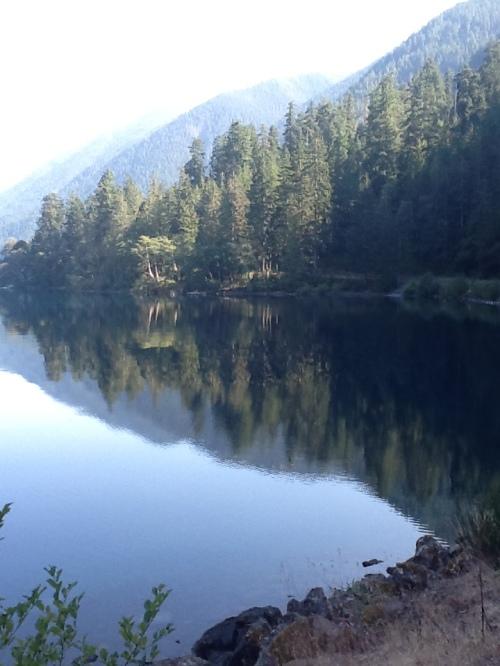 Crescent Lake, reflecting