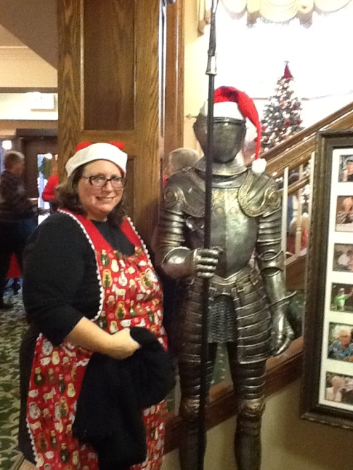 Ms Claus and her knight in shining armor