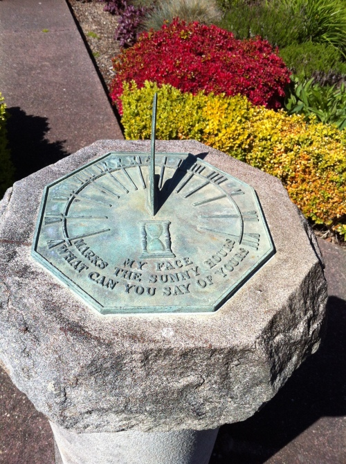 Sundial in Tobey Jones garden